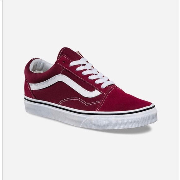great discount for presenting best place for VANS OLD SKOOL BURGUNDY SHOES UNISEX